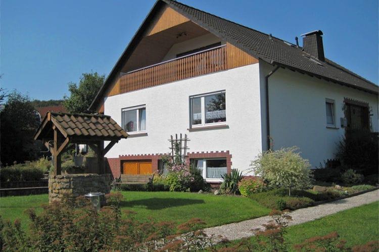 Nieheim- Merlsheim Vakantiewoningen te huur Gezellig appartement in het Teutoburger Woud met overdekt balkon