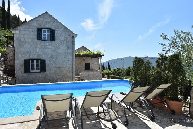 Kroatie | Dalmatie | Villa te huur in GRUDA met zwembad  met wifi 11 personen