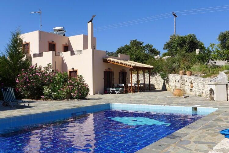 Griekenland | Kreta | Villa te huur in Axos-Rethymno met zwembad  met wifi 6 personen