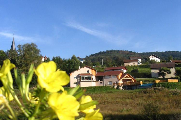 Chalet met zwembad   Le Syndicat  Vrijstaand chalet op kleinschalig vakantiepark in het hart van de Vogezen.