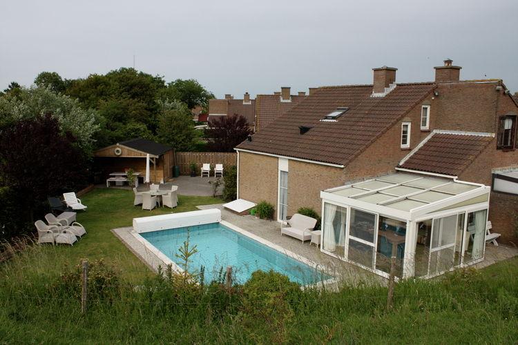 Vakantiewoning met zwembad met wifi  Retranchement  In het puntje van Zeeuws-Vlaanderen, op ..