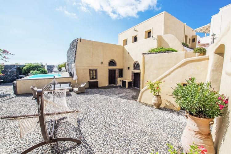 Griekenland | Santorini | Villa te huur in Megalochori met zwembad  met wifi 8 personen