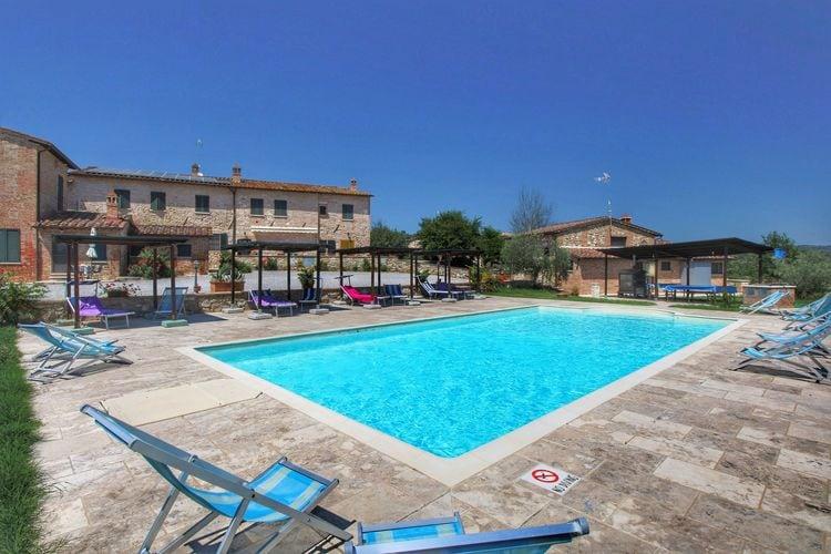 Vakantiehuizen Italie | Toscana | Vakantiehuis te huur in Asciano met zwembad  met wifi 3 personen