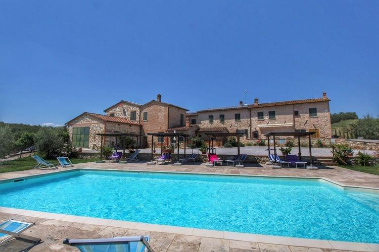 Vakantiehuis met zwembad met wifi  Asciano  Acqua