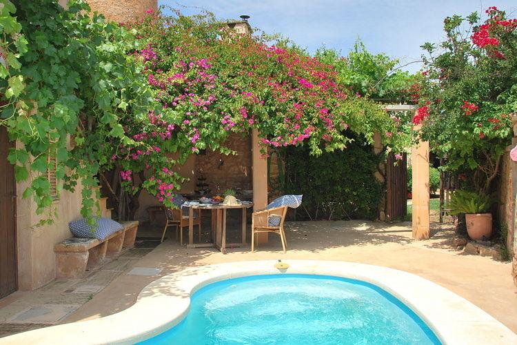 Vakantiehuizen Spanje | Mallorca | Vakantiehuis te huur in Santanyi met zwembad  met wifi 6 personen