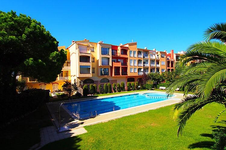 Vakantiehuizen Spanje | Costa-Brava | Appartement te huur in Empuriabrava met zwembad  met wifi 6 personen