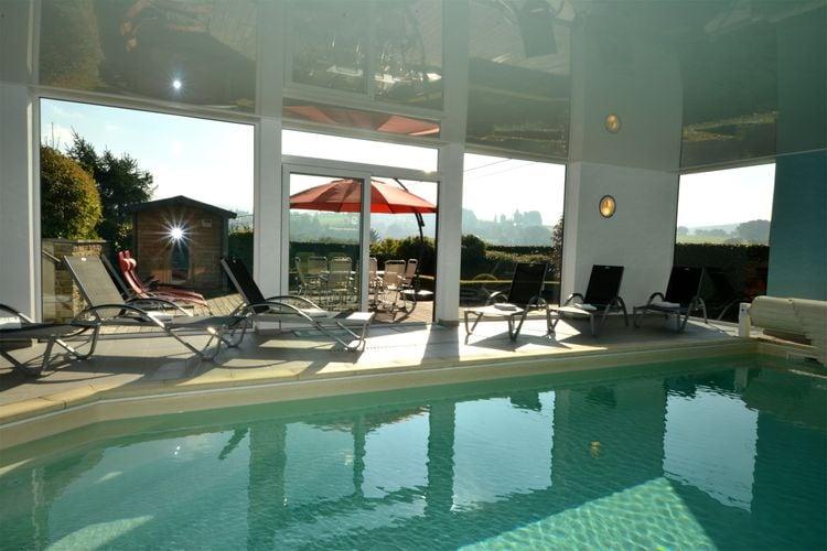 Belgie | Luik | Vakantiehuis te huur in Ligneuville met zwembad  met wifi 8 personen