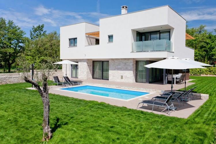 Villa huren in Novigrad - met zwembad nabij Strand met wifi met zwembad voor 8 personen  Deze moderne villa met privé zwem..